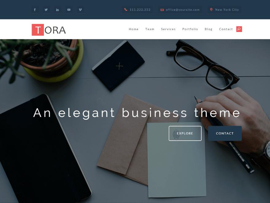 Бизнес-тема Tora