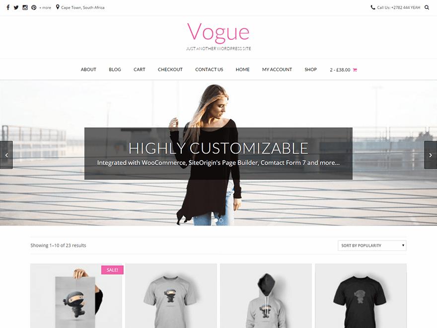 Vogue: адаптивная тема для WordPress