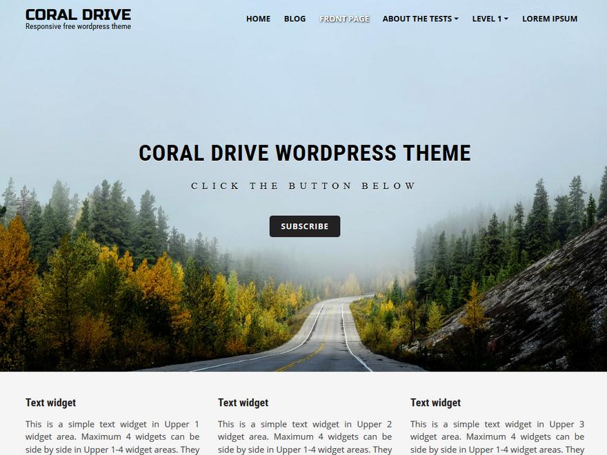 Адаптивная тема Coral Drive