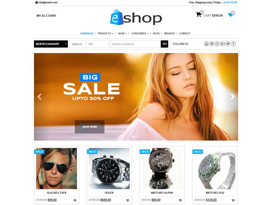 Тема E-Shop
