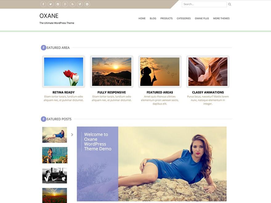Журнальная тема Oxane