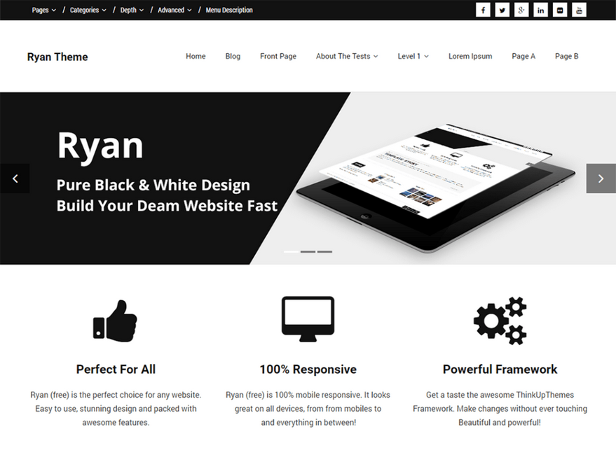 Тема для WordPress Ryan