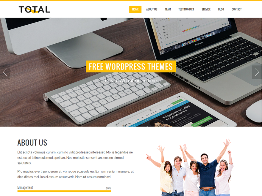 Тема для WordPress Total